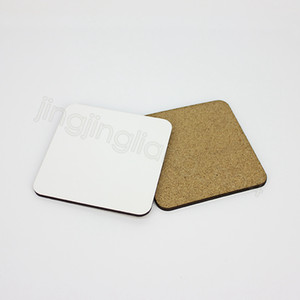 10*10cm Sublimation Coaster Wooden Blank Table Mats Heat Insulation Thermal Transfer Cup Pads DIY Coaster party favor FFA4472-3