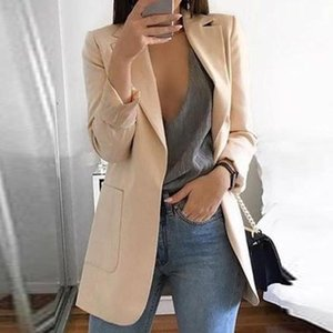 Женские костюмы Blazers Европейский стиль женщины Blazer Весна Осень Черный Хэки Куртки Куртки Slim