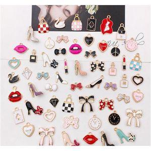 55pcs / pack multistyle bricolage bracelet collier collier pendentifs pendentifs mignon diy bijoux faisant accessoires composants de gros prix prix jtopw