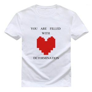 Undertale T Shirt Men Cotton Short Sleeve T-shirt Funny Heart Print Undertale sans Tee Shirts Size XS-XXL1