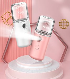 USB Charging Sprayer Humidifier Macaroon Nano Handheld Face Steamer Moisturizer Skincare Vapor hydrating Humidificador Cold Spray AHB2442