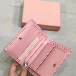 2020 High quality fashion women's change card bag solid color simple Purse Leather lady's purse short Wallet