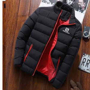 New S Men Winter Warm Out Wear Men's Long Aleeve Stand Collar Business Casual Zipper Cotton Jacket Homme Parka Coats 4XL