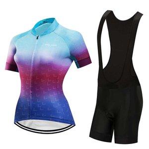 Мода велосипед одежды женщин лета задействуя Джерси нагрудник набор 2020 велосипеда одежды короткое платье женская Trisuit Спорт равномерная mallot