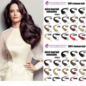 0.5g s 16 -26 inch Remy Micro Ring Loop Human Hair Extensions 100 strands pack 100% indian remy human hair extensions