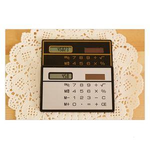 Portable popular office Card Study type supplies calculator wholesale Solar panel black White