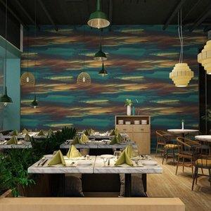 Lancadeco PVC Fond d'écran d'art moderne nordique fond coloré Home Décor étanche Livingroom Chambre Bar Restaurant Roll Drot #