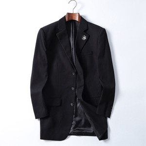 Botón FF 20 V manga larga para hombre del cuello de pana Blazer del solo color sólido para hombre adapta a la chaqueta de primavera ropa masculina