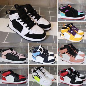 le calzature per bambini caldi all'ingrosso J vendite di trasporto libero 1 1s negozio a buon mercato superiore di prezzo per bambini Scarpe da basket Size 26-35