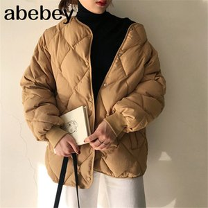 New Office Fashion Casual Winter Windbreaker Coat Women Warm Loose Cotton Coats Long Sleeve Outerwear High Quality 201023