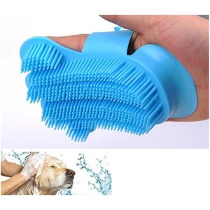 10pcs new silicone soft pet hair glove massage tools dog brush comb for grooming dog gloves animal finger hair cleaning brushes