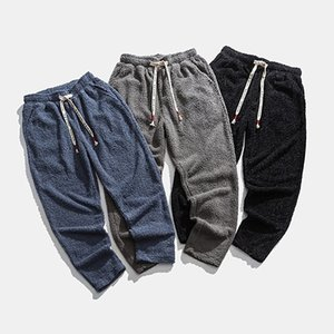 RUIHUO Katı Erkek Kalın Pantolon Hip Hop Harem Pantolon Erkek Giyim Erkek Pantolonları Jogger Harajuku Sweatpants 2020 Yeni M-5XL