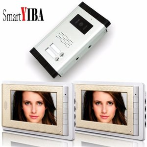"""SmartYIBA vidéo Intercom pour 2 Appartements Vidéoparlophonie Avec 7"""" couleur Lcd interphone parlophone"""