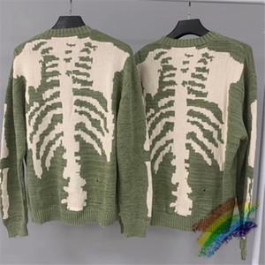 2021FWSS lösen Drucken Pullover Männer Frau 1 Qualitäts-Crewneck Vintage grüne Sweatshirts
