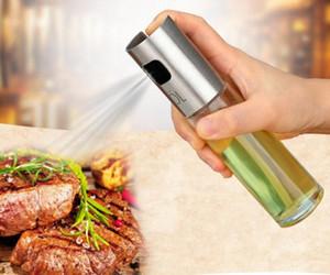 Stainless Steel Olive Oil Spray Empty Bottle Barbecue Vinegar Sprayer Pot Oil Dispenser for Cooking Salad BBQ Baking