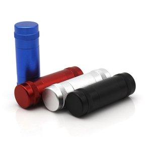 Allega di alluminio Space Case Polline Polline Polline Hash Compress con 2 aste per tasselli in metallo per il compressore del tabacco del metallo del polline dell'erba asciutta