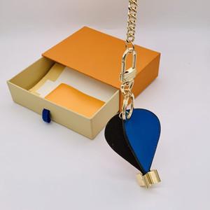 Balão de ar quente Keychain com caixa 2021 homens mulheres moda designer de couro chaveiros carteira bonito sacos artesanais de carro chaveiro Chaveiro pingente fivela