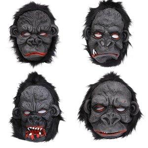 Силиконовые маски Ужас маска Ape Scary Орангутанг питания Halloween Орангутанг Маска Орангутанг ног Костюм партии Cosplay RRA2642 Silicone Mas Efcr