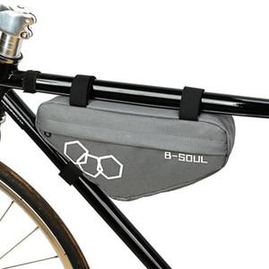 Bici Biciclette Biciclette Borsa da ciclismo Front Tube Telefono Telefono Impermeabile Borse Bike Borse Triangle Blocco Blocco percorribile Accessori Bycle