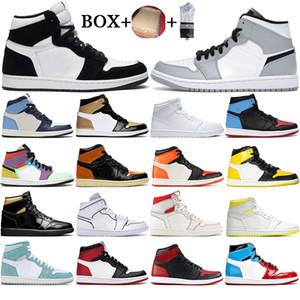 2021 Jumpman 1 1S Баскетбольные туфли Мужские кроссовки Высокий Mocha Travis Scotts Mid Розовый кварц Белый тренажерный зал Красные разбитые щиты Женщин