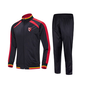 20 21 Football Club de Metz men's football suit loose and comfortable Kids running training suit Autumn and Winter Soccer Tracksuits