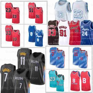 23 6 Los Kevin 7 Durant Angeles Jerseys Irving Dennis 91 Rodman Kyrie 11 Anthony MJ Davis Alex Scottie 33 Pippen Caruso Basquete