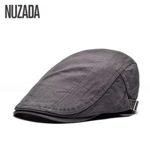 NUZADA 2020 Solid Color Pure Cotton breathable Men Women Beret Hats Flat Visor Caps Classic Fashion Cap Boina Chapeu