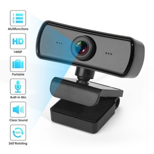 2020 New Rotatable HD 2K Webcam Computer PC Web Camera with Microphone Cameras for Live Broadcast Video Calling Conference Work