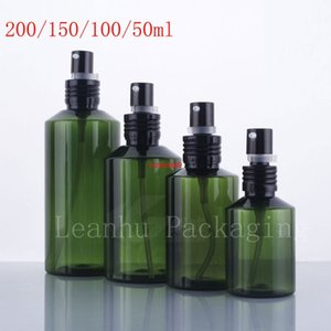 New arrival empty essential oil pump plastic bottles , green cream container for skin care cream, dispenser cosmetic bottlepls order