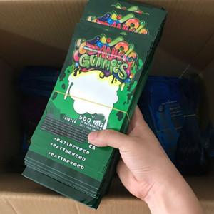 500mg Dank Gummies Bag Edibles bags Packaging Worms 4 types Edibles Bears Cubes Gummy bags Wholesale