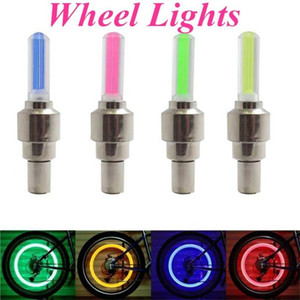 100pcs Firefly Spoke LED Wheel Valve Stem Cap Tire Motion Neon Light Lamp For Bike Bicycle Car Motorcycle FY4324