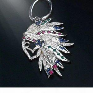 2019 new arrival fashion Indian feather earrings jewelry for women asymmetrical drop vintage elegant top earrings
