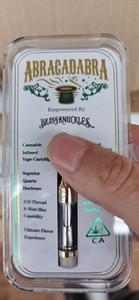 Altın Brass Knuckles 1.0ml Kapasitesi Çift Bobinler Kartuş Pyrex Cam Vaporizer Isıtma bobini Çift pamuk bobin veya Seramik Bobin