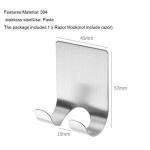 الحلاقة حامل هوك الفولاذ المقاوم للصدأ حامل للرجال الحلاقة حامل الحمام جدار لاصق تخزين هوك جدا jllhtv