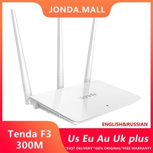Tenda F3 300Mbps optical fiber network box Mobile Phone Wireless WiFi Router Multi Language Firmware 1*WAN+3*LAN Ports Home use small office