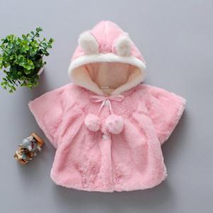 Herbst und Winter Kleidung der neuen Kinder Cotton Padded Kleidung-Mädchen-Frühlings-Wollpullover Mantel Jacke 80cm Rosa
