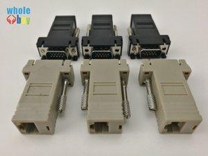 Yüksek Kaliteli Ağ Kablosu Adaptör VGA Extender Erkek için LAN CAT5 CAT5e CAT6 RJ45 Kadın