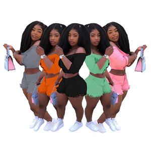Women plus size 2 piece set summer clothes sexy club Cardigan shorts sweatsuit slash neck outerwear leggings outfits coat bodysuits 0590