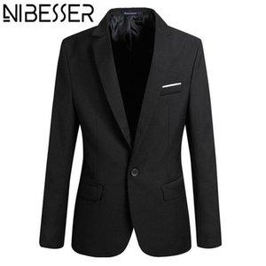 Nibesser Jaqueta Masculino Blazer Giacche da uomo Manica lunga Cappotto Slim Fit Blazer Designs Jaqueta Masculino 4XL Plus Size Z20
