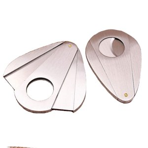 Stainless Steel Silver Double Blades Pocket Cigar Tobacco Cutter Knife Scissors Smoking