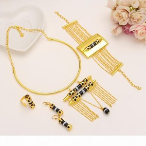 K Women &#039 ;S Unique Neck Chain A Row Pendants Earrings Ring Bangle Wide Sets 14k Yellow Black Fine Gold Filled Eretrian African Jew
