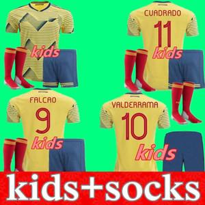Kit Kids 2020 Soccer Jersey Columbia Chemise de football 20 21 James Rodriguez Camiseta Maillot de pied Cuadrado Jeunesse Camisetas de futbol