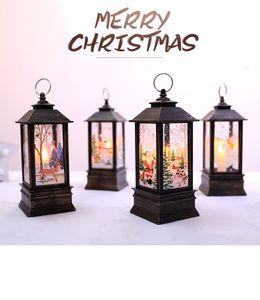 Рождественские светодиодные малые масличные лампы портативный ламп торговый центр окна бар ресторан интерьера украшения украшения пламя лампы украшения