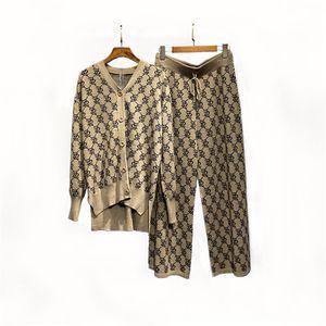 FashionProfessionTracksuit 두 조각 여성 더블 Breaseted 우아한 재킷과 바지를 설정 숙녀 재킷과 바지 작업복 # 240