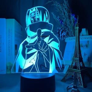 Uchiha هدية ليلة ضوء أنيمي naruto uzumaki 3d مصباح usb led فريق 7 sasuke kakashi أطفال نوم نوم الليل itachi هدية عيد 201028