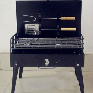 2017 begrenzte Förderung Schwarz 3-5 Personen nicht beschichtet Guss 3c Outdoor-Grill Koffer Grill Portable Zubehör Camping Supplies BKTD #
