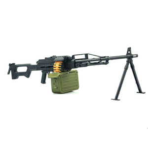 "1 6 1:6 PKP MG42 Machine Gun 4D Plastic Assemble Gun Model For 12"" Soldier Weapon Action Figure Accessory Model Toys Gift"