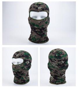 Esporte máscara de esqui ciclismo da bicicleta Máscara Caps Motorcycle Barakra Hat CS à prova de vento cabeça poeira define Máscara Camouflage Tactical FWA2146