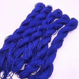 20yards 1.0mm de nylon fio fio chinês nó macrame rattai corda trançada para jóias fazendo borlas diy beading para shamballa h jllvle