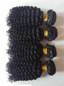 Unprocessed Brazilian virgin human hair weft beauty kinky curly hair extensions for African American hair 3 4 5pcs lot double weft DHgate